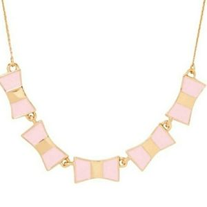 Kate Spade Light Pink Bow Shoppe Row Necklace NWT